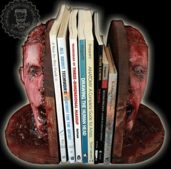 Porta-livros Cabeça de Zumbi