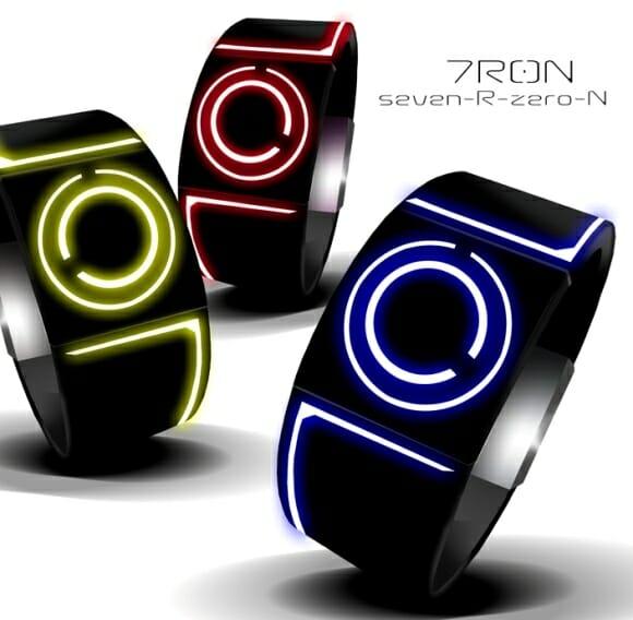 7R0N – Um relógio de pulso futurista inspirado no filme TRON.