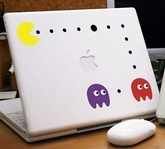 Adesivo do Pac-Man para MacBook.