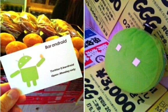 """O primeiro bar do mundo com o tema """"Android"""" fica no Japão."""