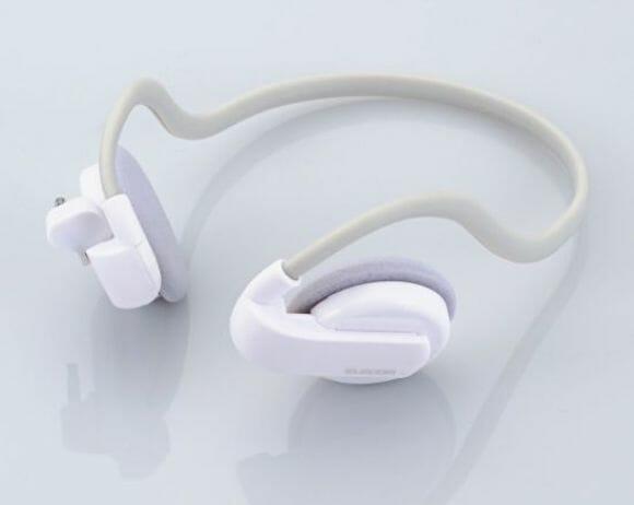 Headphone da Elecom toca as músicas de seu iPod Shuffle sem usar fios.