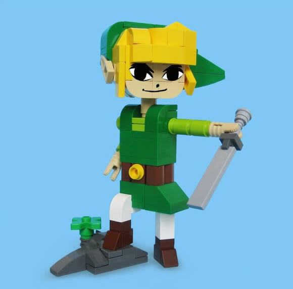 Esculturas de Lego do Batman, Link, Scott Pilgrim e outros