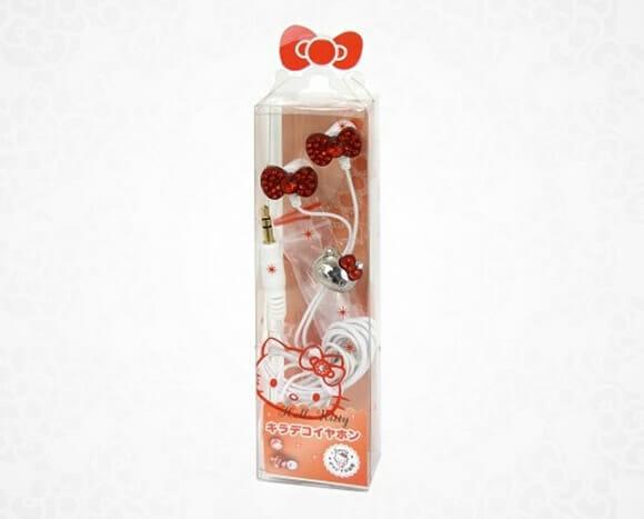Mais um fone de ouvido da Hello Kitty para fãs da gatinha.