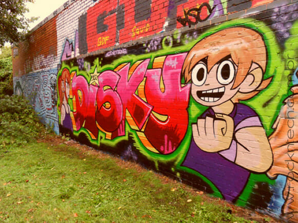 FOTOFUN - Grafite geek do Scott Pilgrim.