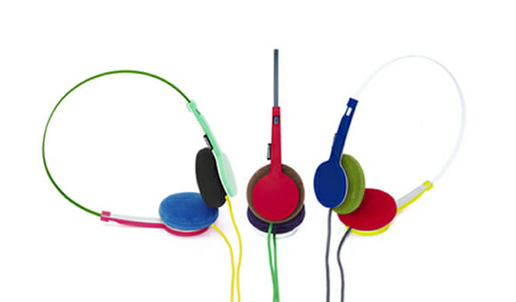 Headphones TANTO da Urbanears & Wired são super coloridos.