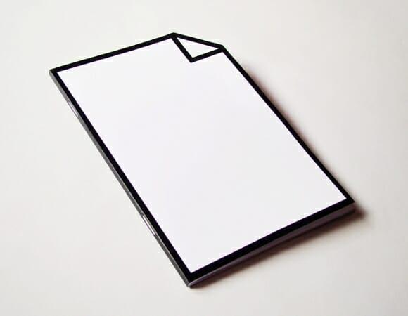 Bloco de anotações em forma de ícone.