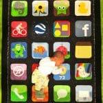 Manta iPhone para bebê.