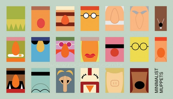 FOTOFUN – Personagens minimalistas dos Muppets.