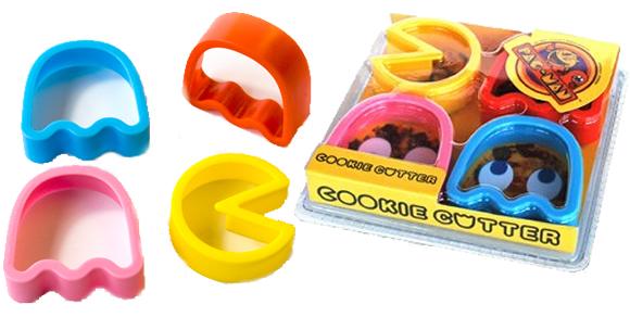 Cortadores de biscoito do Pac-Man.