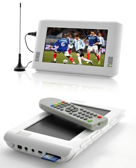 Uma mini TV portátil para levar seus programas e suas séries de TV favoritas por onde for.