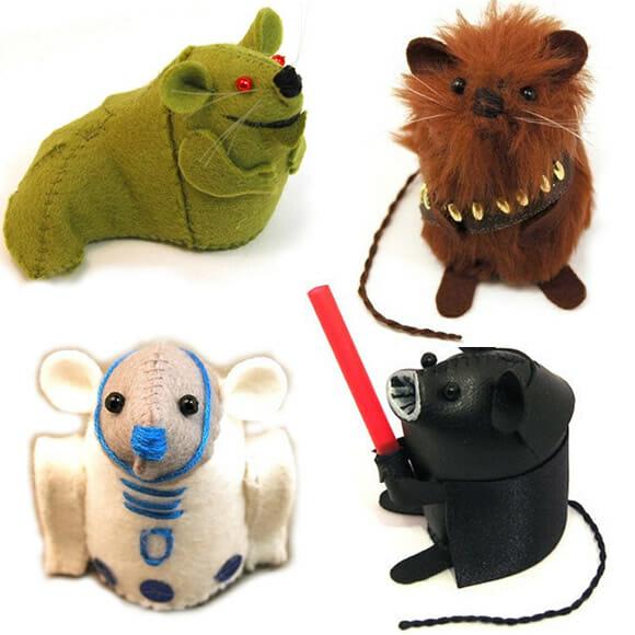 Camundongos geeks de pelúcia. Desde Star Wars até Harry Potter!
