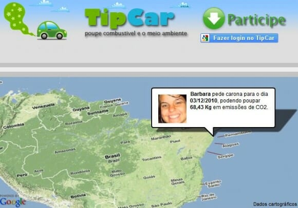 TipCar - Rede social brasileira pra pedir e oferecer caronas.