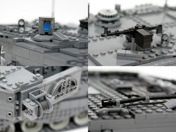 Tanque de guerra alemão de controle remoto feito de LEGO (vídeo)