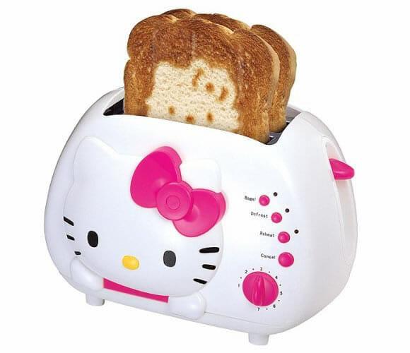 Torradeira da Hello Kitty. Very Cute!
