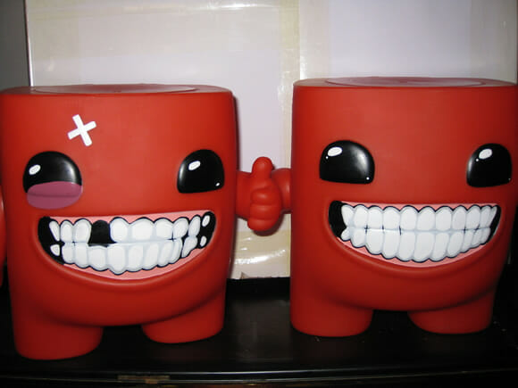 Action Figures do Super Meat Boy.