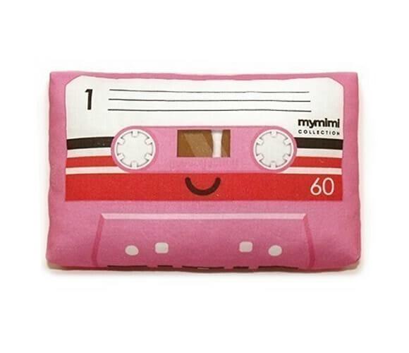 Mini almofada fita cassete.