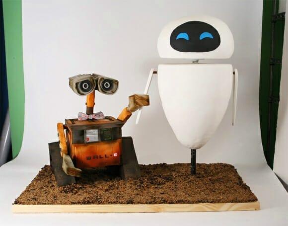 Bolo Wall-E e Eve.