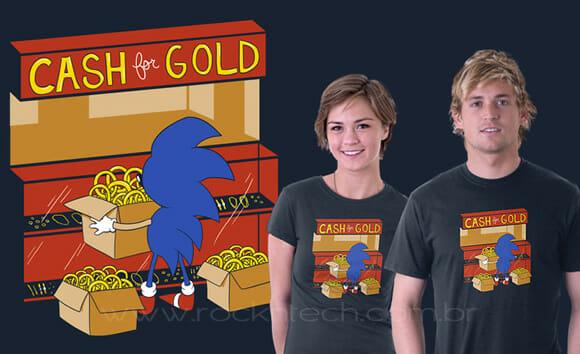"""Camiseta """"Tempos difíceis para Sonic""""."""