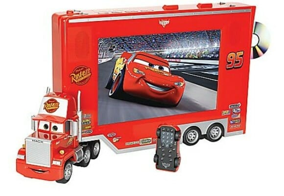 Combo TV / DVD do filme Carros da Disney.
