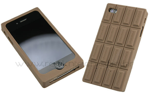 Case para iPhone 4 em forma de barra de chocolate. Hummm!