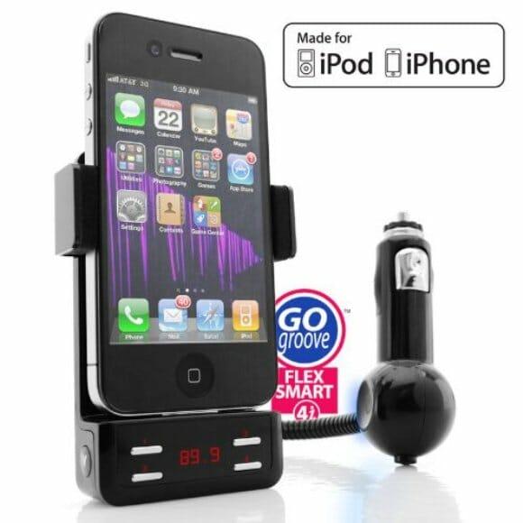 FlexSMART 4i – Carregador e transmissor FM para o seu iPhone ou iPod.