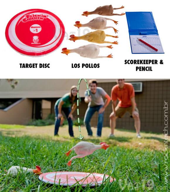 Flickin' Chicken Game – Teste sua pontaria com: Frangos?! (com vídeo)