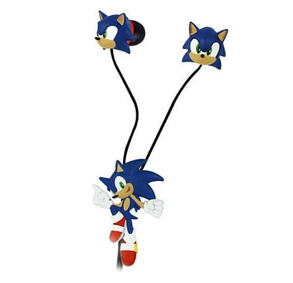 Fone de ouvido Sonic the Hedgehog.