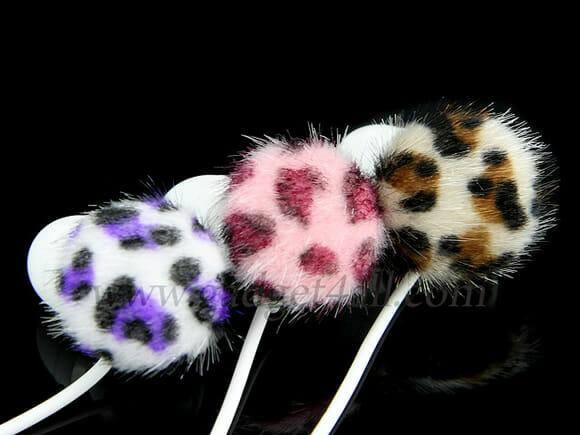 Napped Leopard Earphone – Um fone de ouvido para divas geeks.