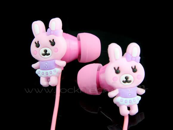 Pinky Rabbit – Fones de ouvido em forma de coelhinhos.