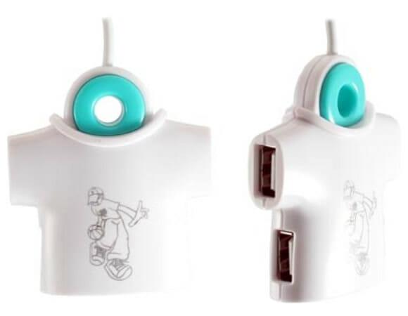 Hub USB em forma de camiseta. Cool!