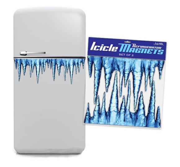 Icicle Jumbo Magnets – Ímãs de gelo para geladeira.