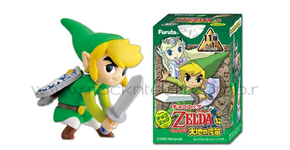 """Kinder Ovo"" japonês oferece mini personagens do game Zelda como surpresa."