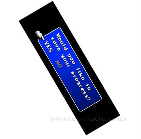 O marcador de livros dos gamemaníacos!