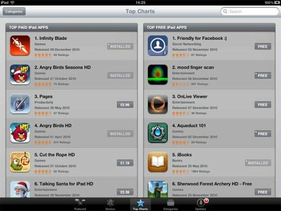 Apple libera a lista dos 10 melhores apps de 2010 para iPhone e iPad.