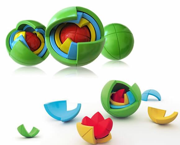 Oblo Spheres – Um puzzle esférico tridimensional de rachar a cabeça!