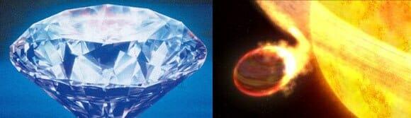 Astrônomos suspeitam ter encontrado planeta coberto por diamantes.