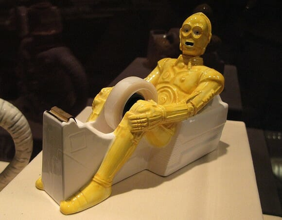 Porta durex do C-3PO.