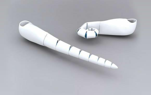 Prótese conceito tem formato que lembra tentáculos de polvo.
