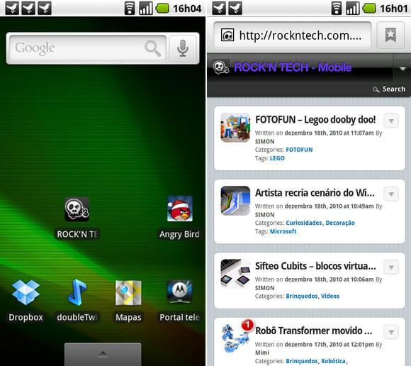 Telas ROCK'N TECH Mobile para Android