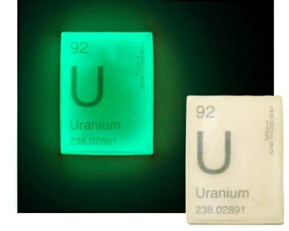 Sabonete Uranium que brilha no escuro
