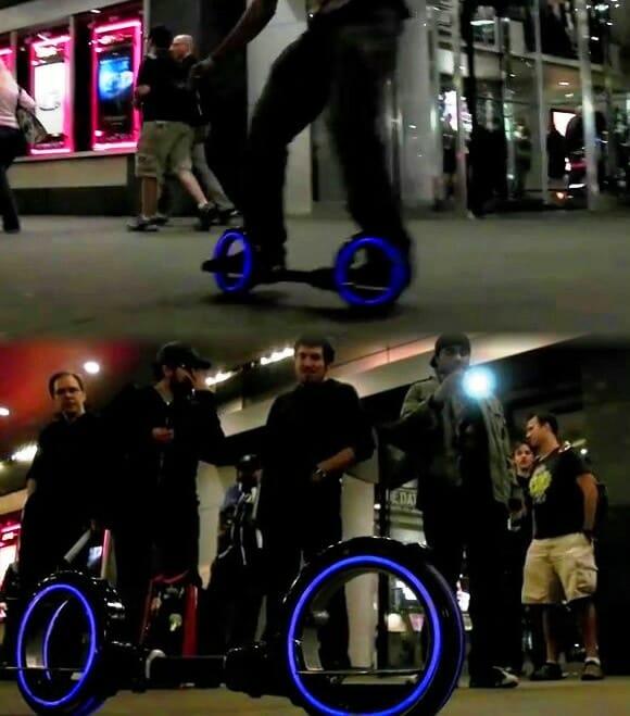 Skatecycle inspirado no filme TRON. (com vídeo)