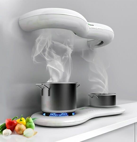 Serão assim os exaustores de ar e fogões das cozinhas do futuro?