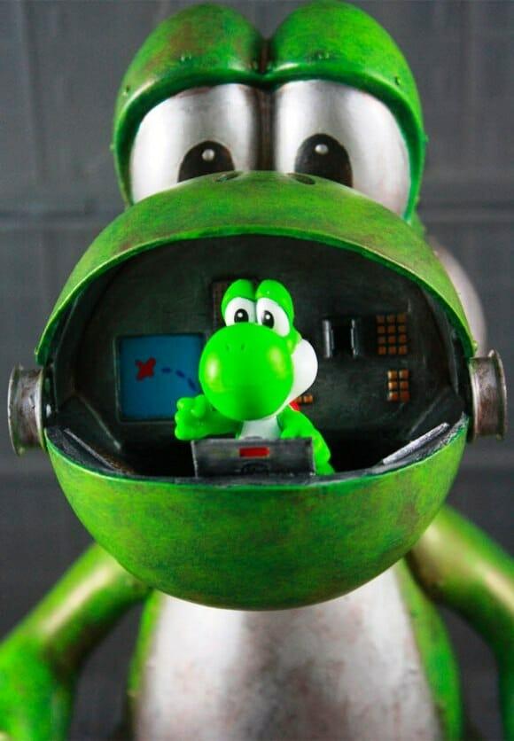 Fã de Yoshi cria action figure em forma de robô para o personagem.