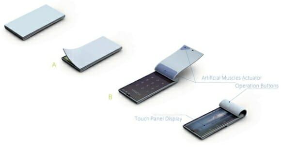 Bio - Um smartphone conceito em forma de bloco de anotações com abertura eletrônica.