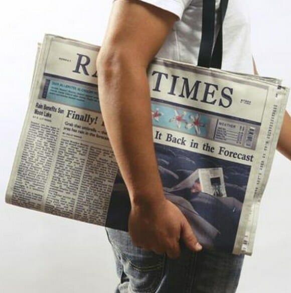 Bolsa jornal é super original.