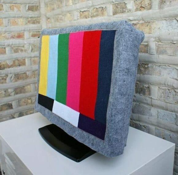 Capas para TVs e Monitores com estampa de canal fora do ar.