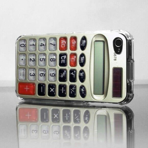 Case retrô para iPhone 4 em forma de calculadora