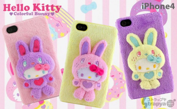 Case para iPhone 4 da Hello Kitty Bunny
