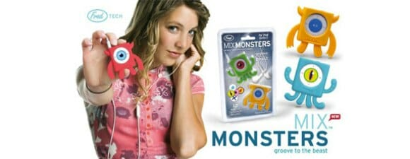 Mix Monsters – Monstrinhos para proteger seu iPod Shuffle.