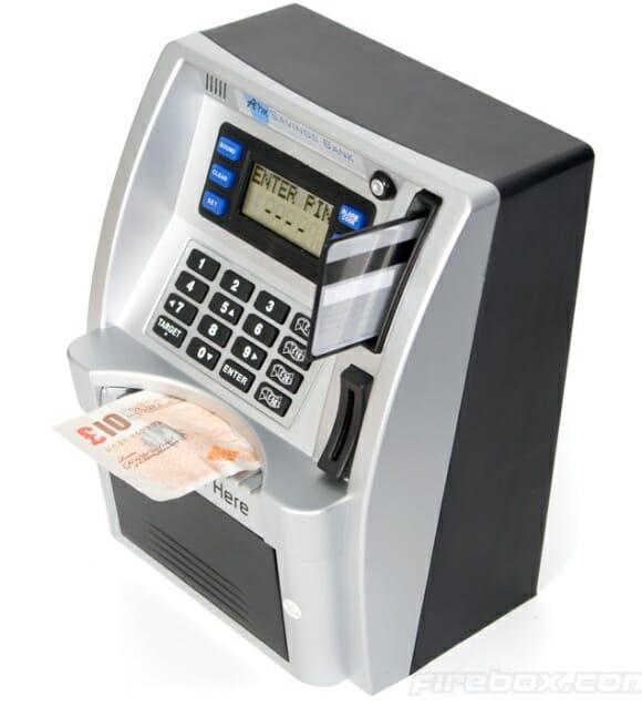 Guarde sua fortuna em um Cofrinho Caixa Eletrônico